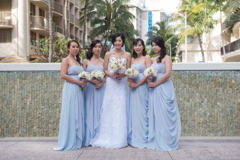 Dusty Blue Bridesmaid Dress Style #W101