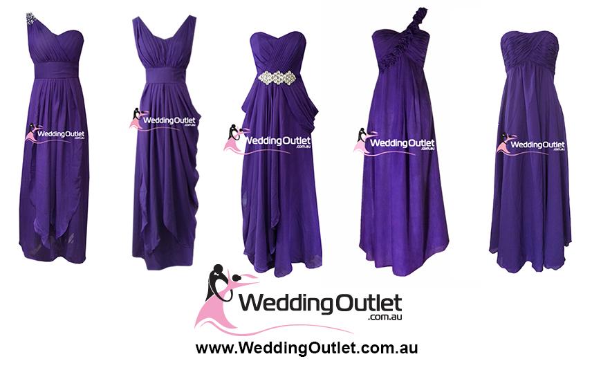 Cadbury Purple Bridesmaid Dresses Weddingoutlet Com Au