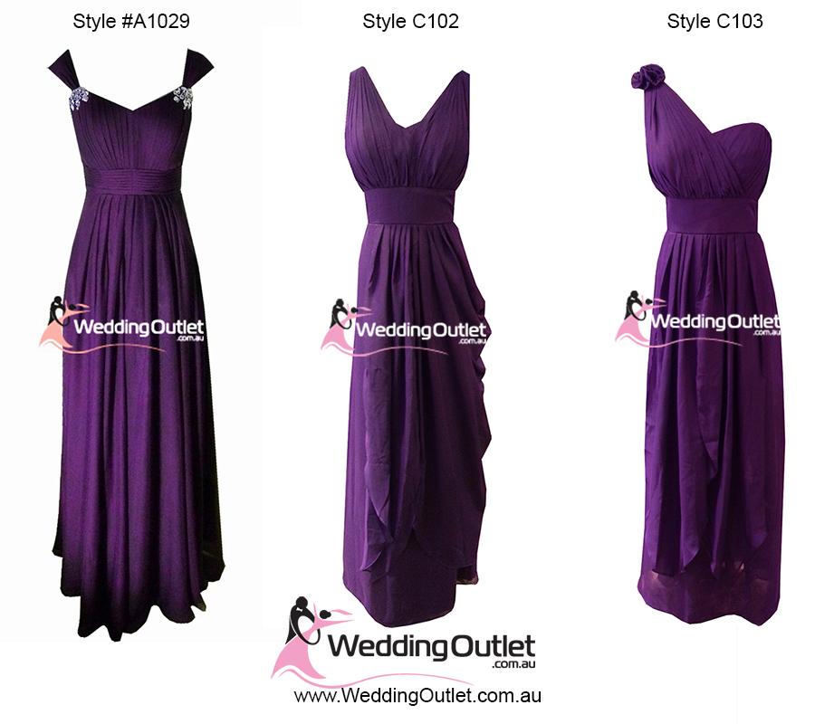 Purple wedding dresses australia pictures
