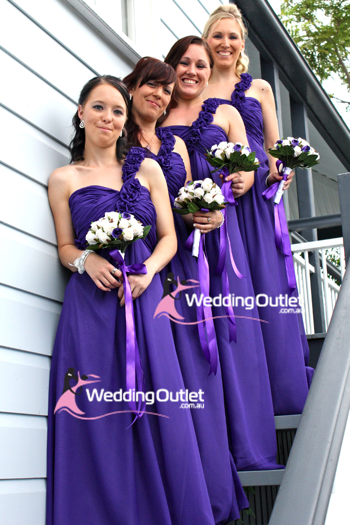 Cadbury Purple Bridesmaid Dresses Weddingoutlet Com Au