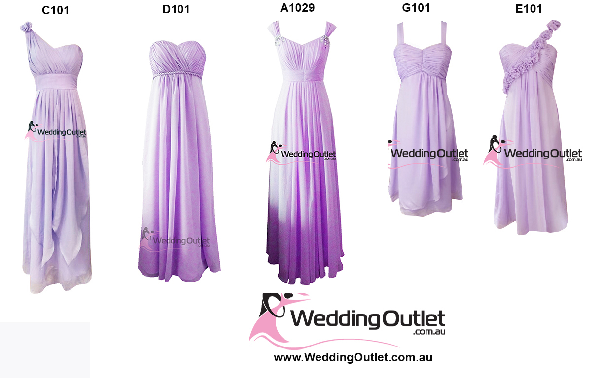 Lilac Purple Bridesmaid Dresses - WeddingOutlet.com.au
