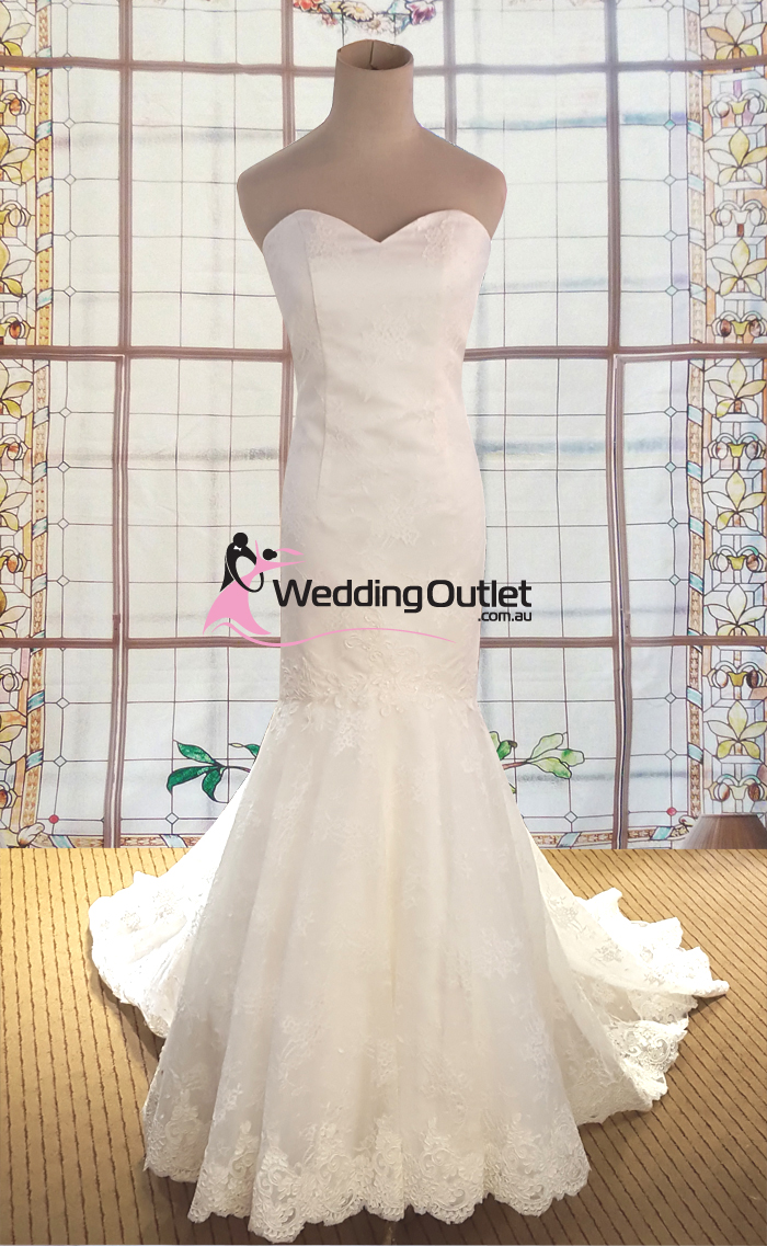 Taimane French Lace Sweetheart Mermaid Wedding Dress - WeddingOutlet ...