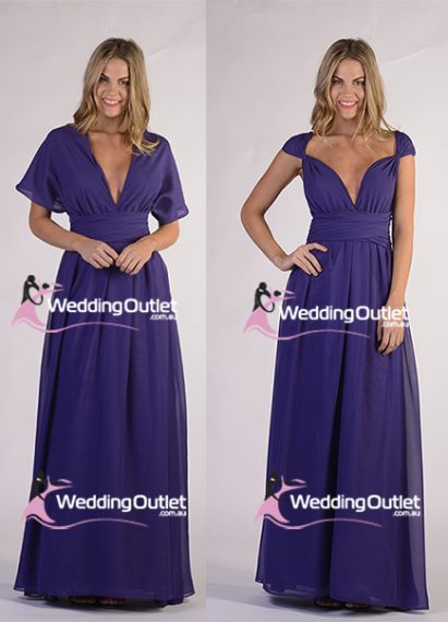 Purple & Stormy - Bridesmaid Dresses