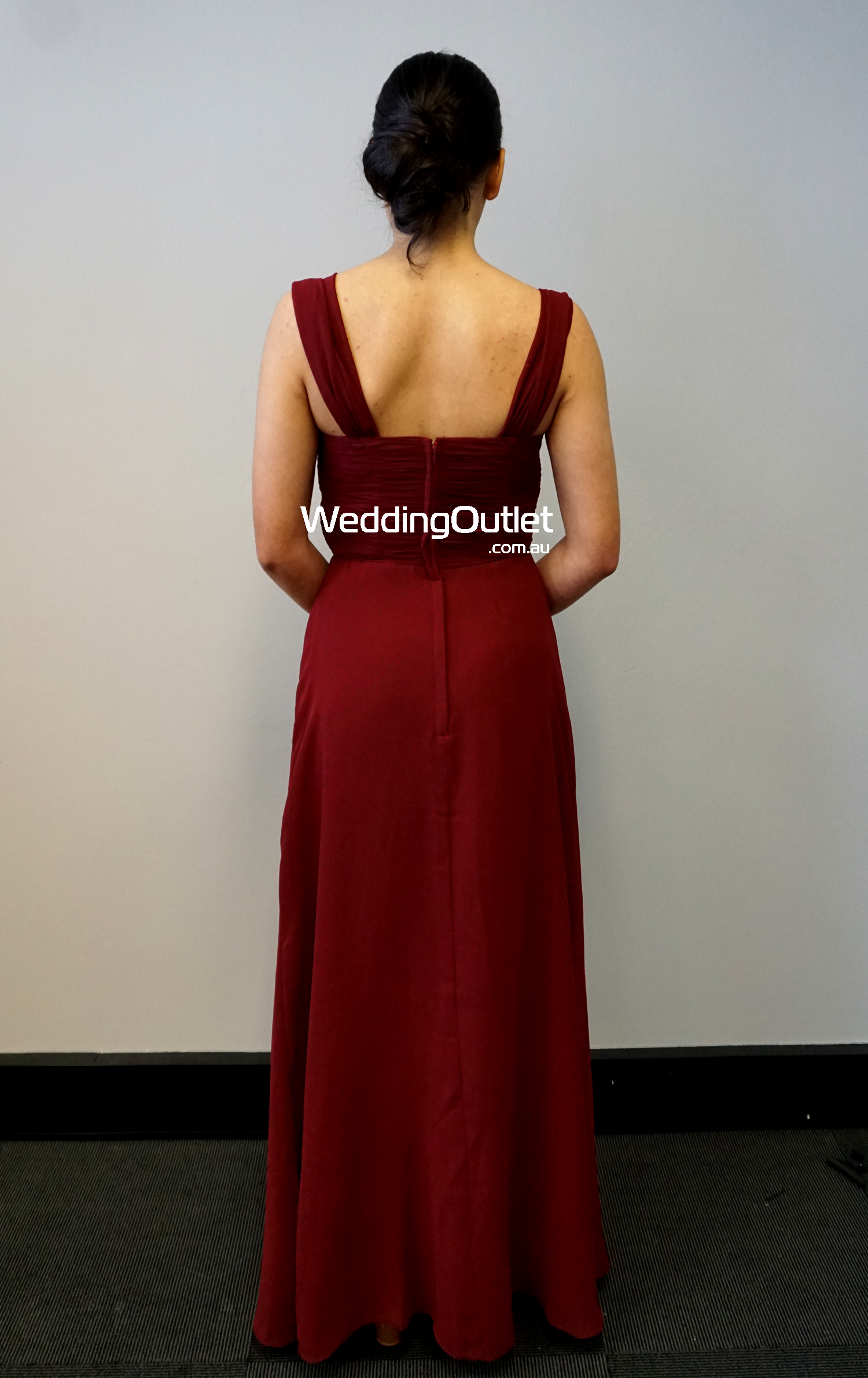 Burgundy Maroon Bridesmaid Dress Afa101 Weddingoutlet