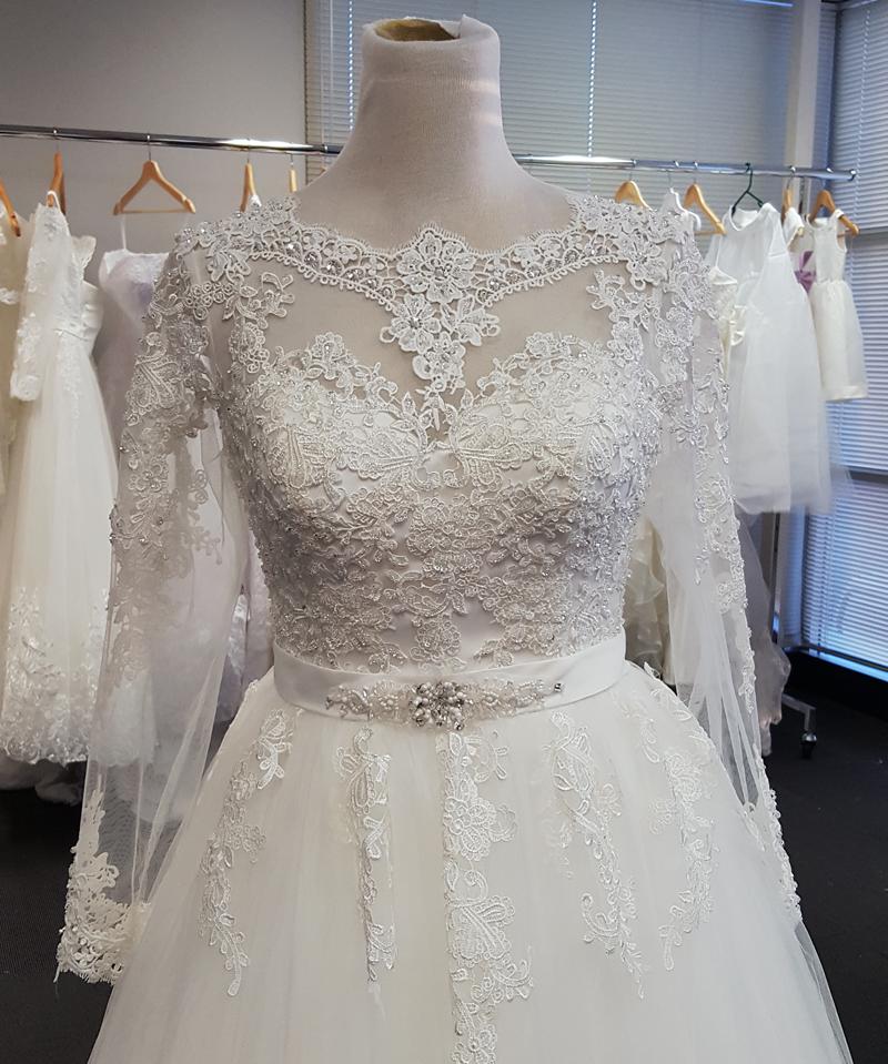 Trinity Long Sleeve Lace Luxury Wedding Gown - WeddingOutlet.com.au