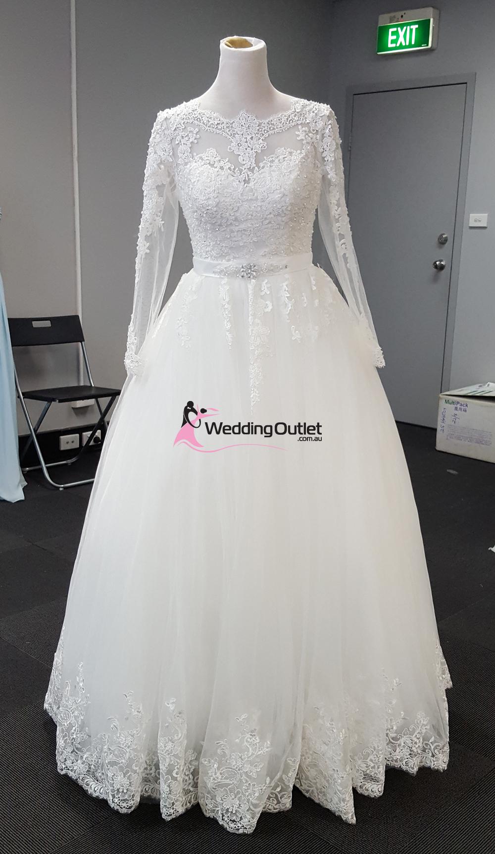 Trinity Long Sleeve Lace Luxury Wedding Gown