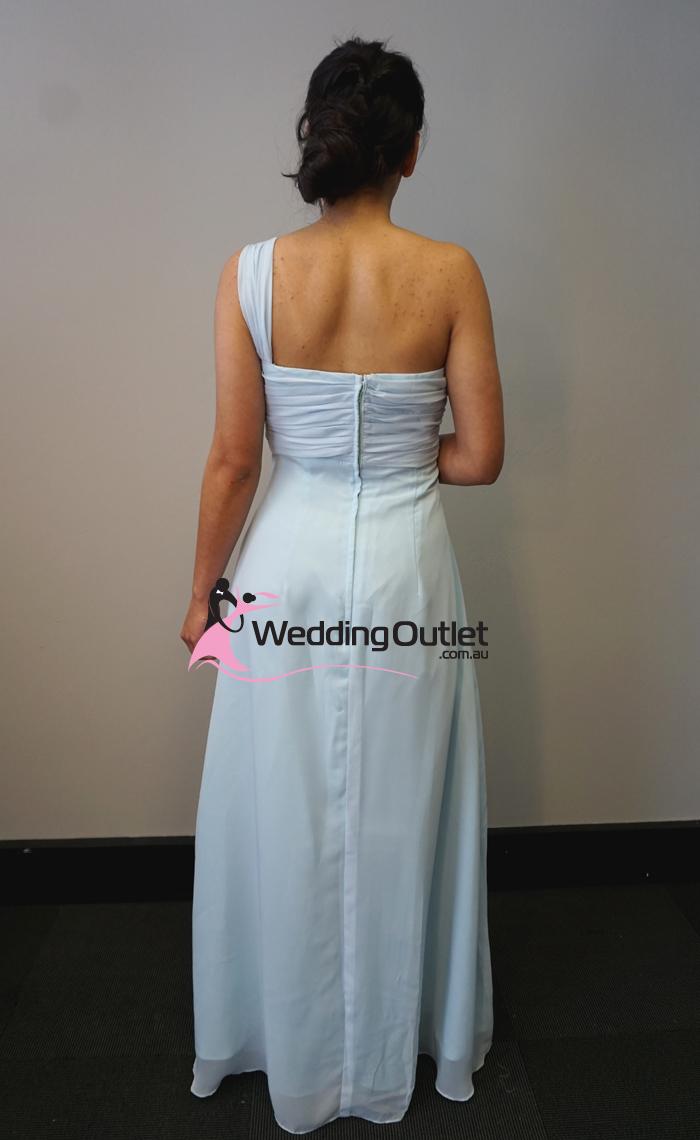 Misty Blue One Shoulder Bridesmaid Dress F101