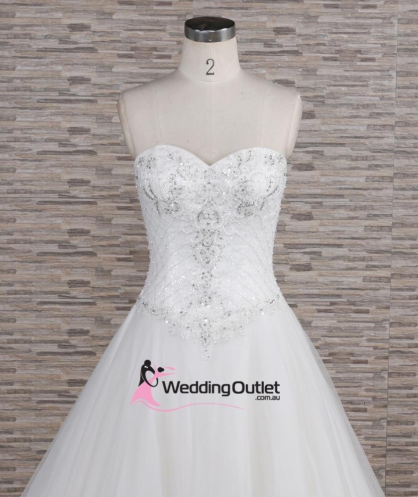 Quinn Strapless Beaded Aline Wedding Dress Weddingoutlet
