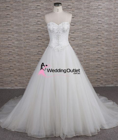 Quinn Strapless Beaded Aline Wedding Dress