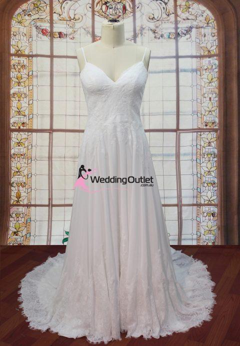 Aubrey Beach Lace and Chiffon Wedding Dress