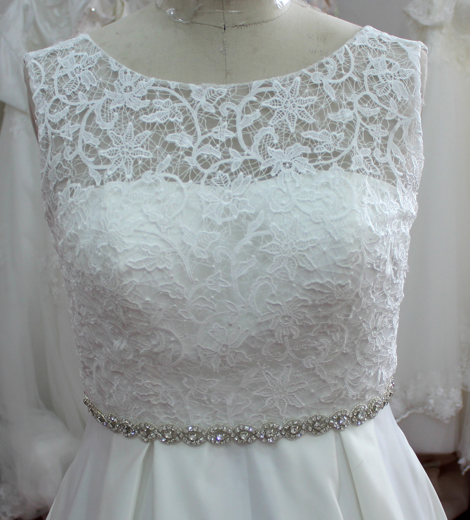 Aubree Beach Simple Lace Wedding Dress - WeddingOutlet.com.au
