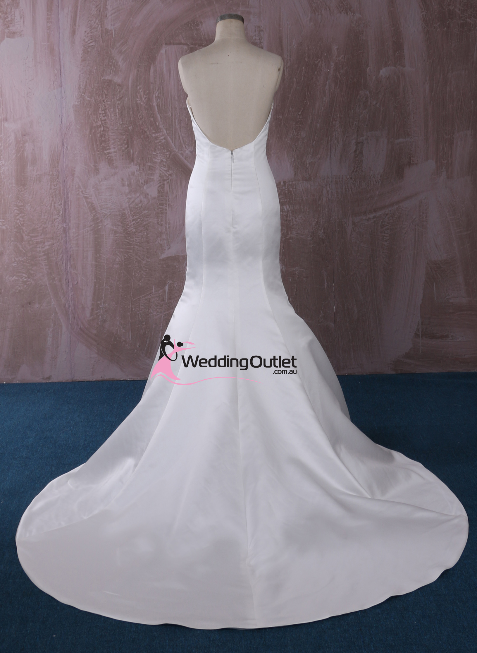 London simple mermaid wedding gown for Simple wedding dress cheap