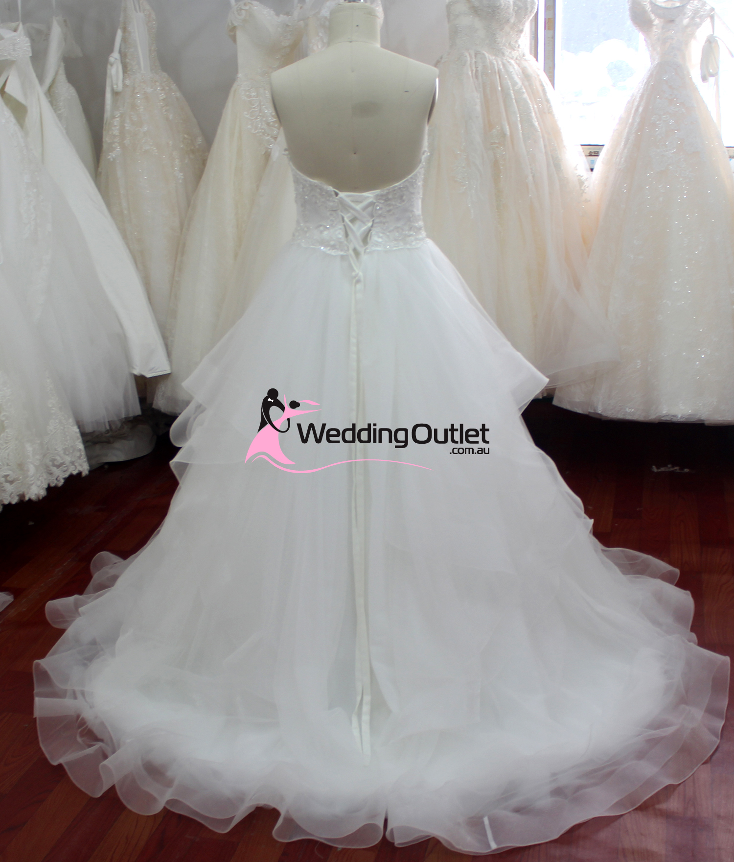 Valentina Ruffle Layers Wedding Dress