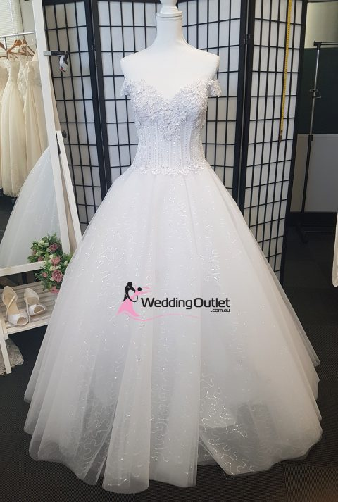 Rella Off Shoulder Princess Ball Gown with Sparkles