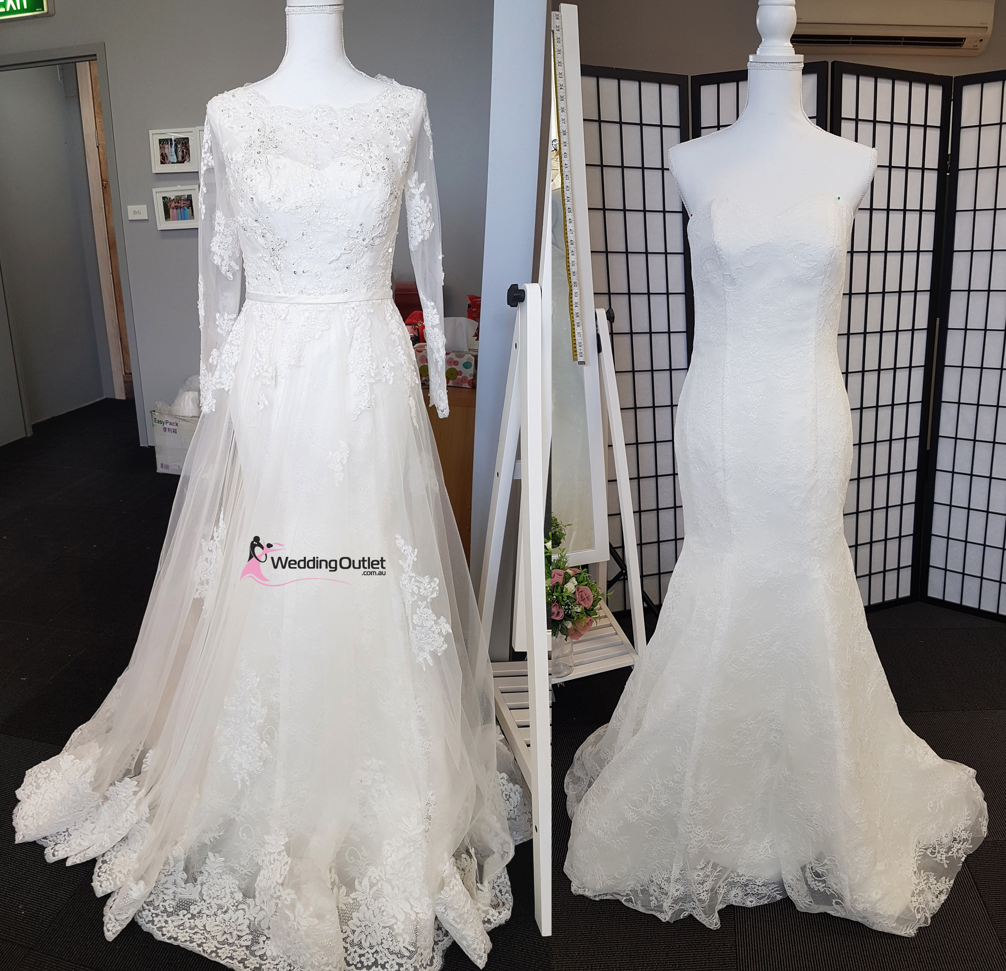 2 in 1 Wedding Dress Style Bridget Detachable Train - WeddingOutlet ...