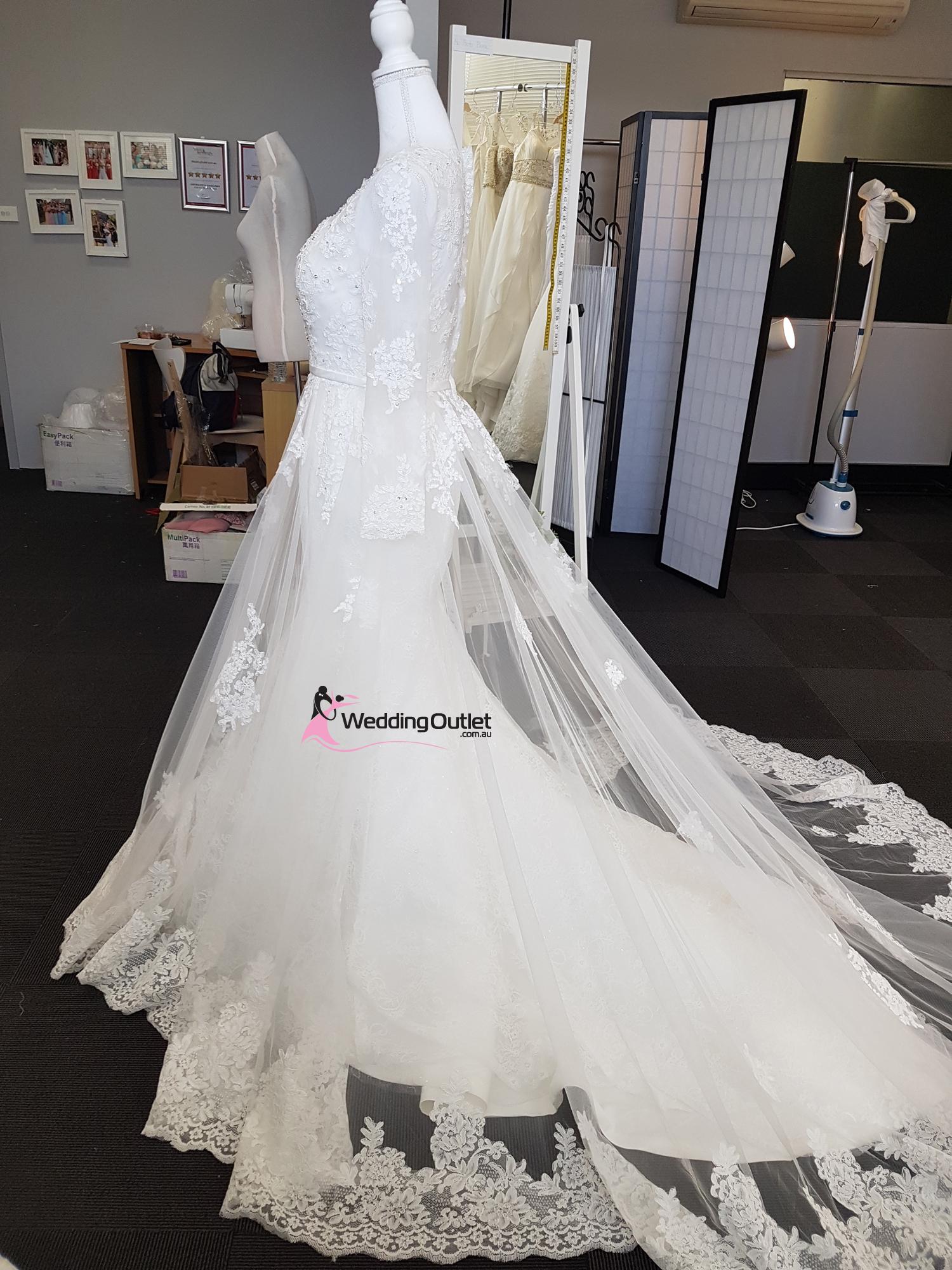 2 In 1 Wedding Dress Style Bridget Detachable Train