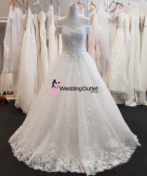 Alaina Off Shoulder Lace Bridal Wear