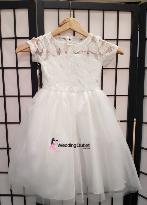 Lace Flower Girl Dress with Sleeves Style #FL101