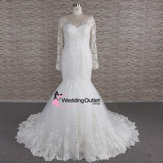 Pisa Illusion Mermaid Wedding Dress