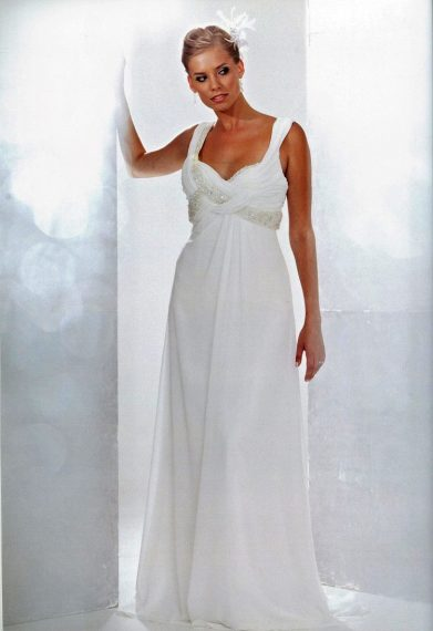 Luca Chiffon Simple Wedding Dress
