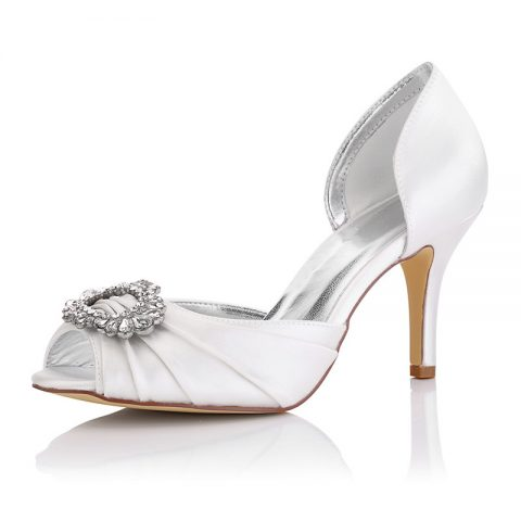 Wedding Shoes with Buckle Open Toes