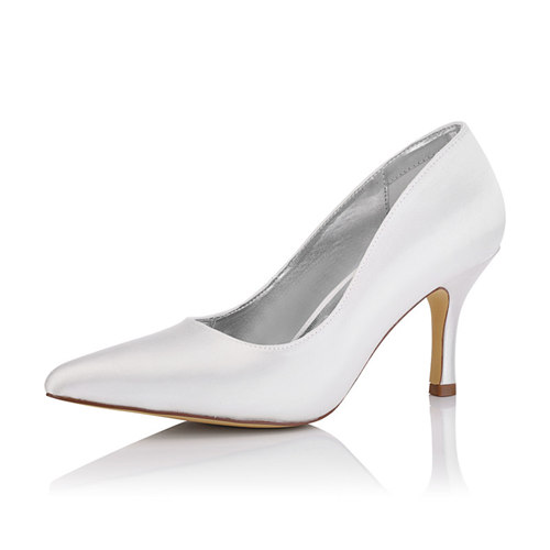 Zara Satin Pump Bridal Shoe
