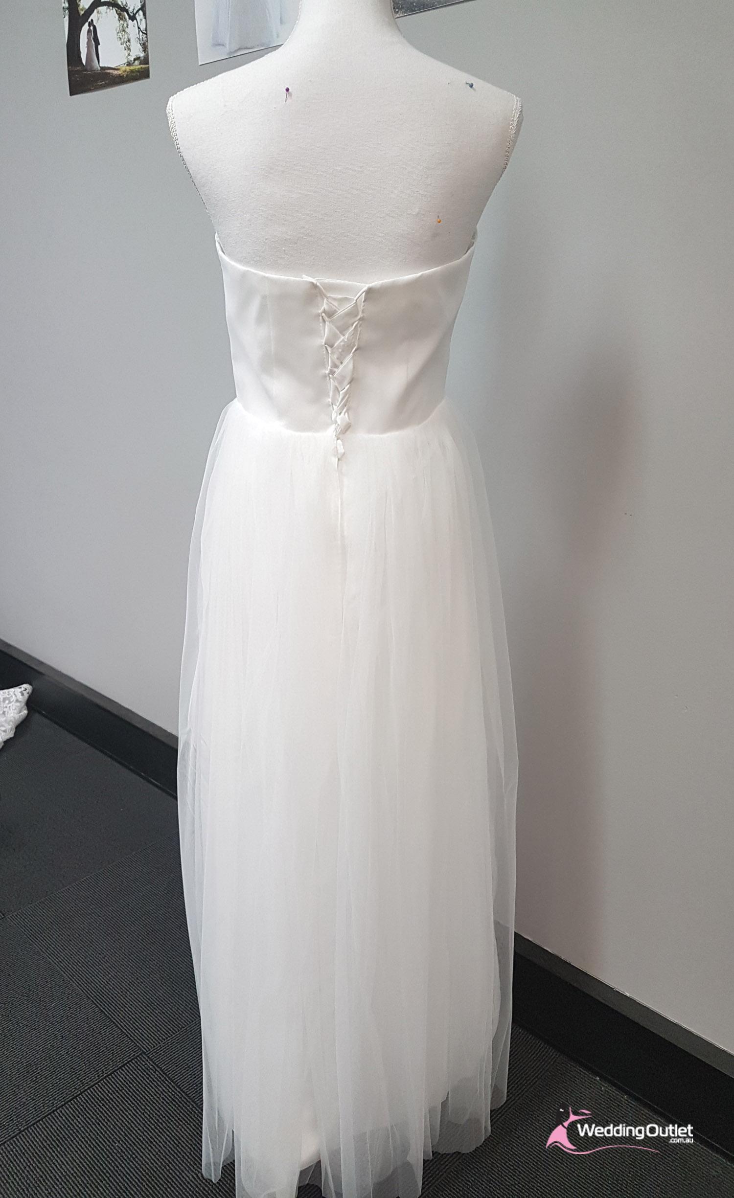 Salerno Convertible Debutante White Wedding Dress - WeddingOutlet.com.au