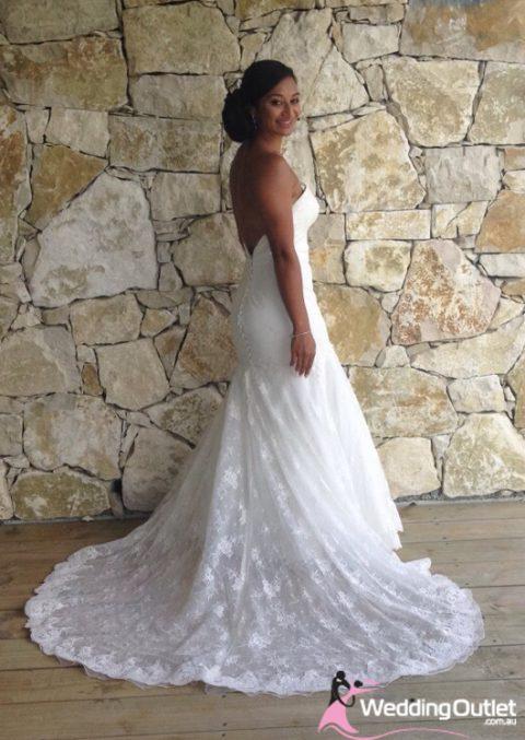 Taimane French Lace Sweetheart Mermaid Wedding Dress