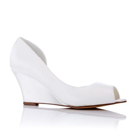 Amira Wedding Shoes with Wedge Heels