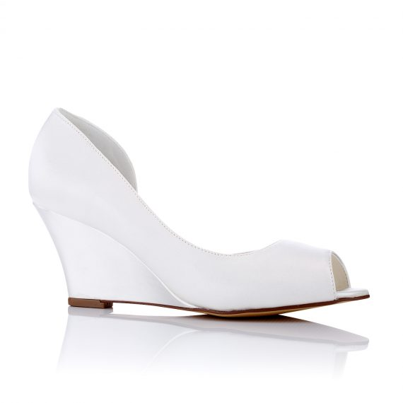 Amira Wedding Shoes with Wedge Heels