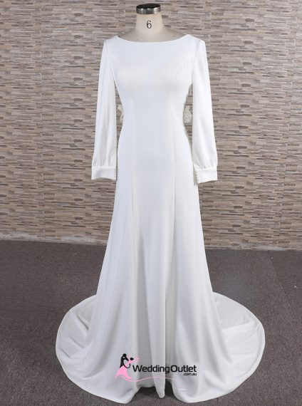Meghan Simple Satin Wedding Dress