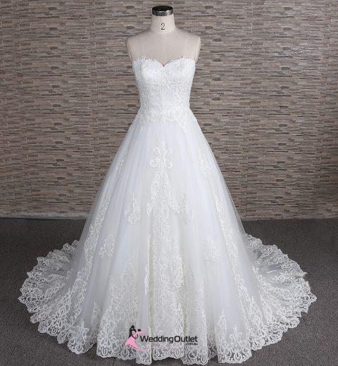 Khalil Strapless Luxury Wedding Dress