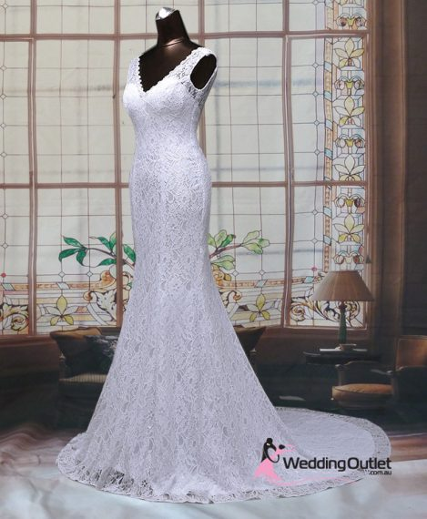 Esteri Mermaid Simple Wedding Gown