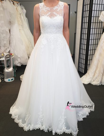 Milana Illusion Aline Wedding Dress
