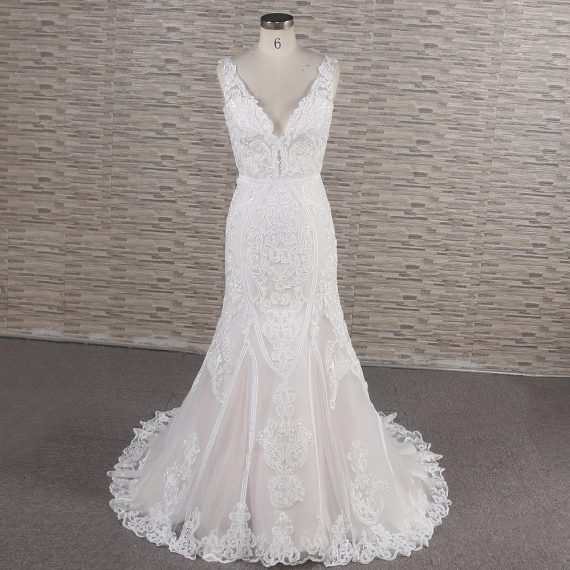 Juliana mermaid blush wedding dress