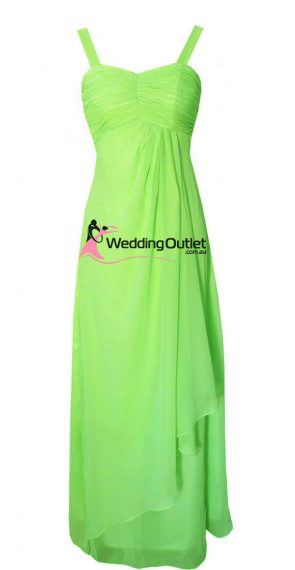 Apple Green Bridesmaid Dress Style #G101 No Sequins on Sleeves