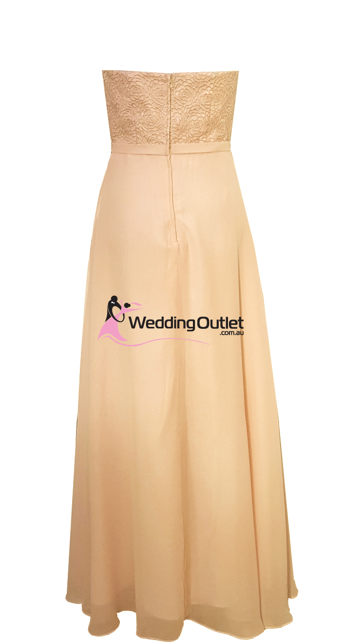 Apricot Peach Strapless Bridesmaid Dresses Sryle #AN101