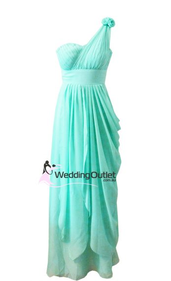 Aqua Greek Style Bridesmaid or Evening Dress Style #C101
