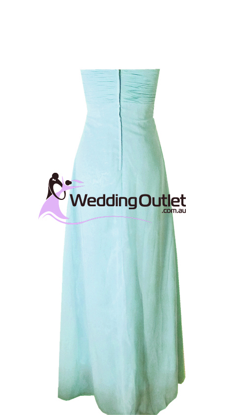Aqua Strapless Bridesmaid Dress Style #R101