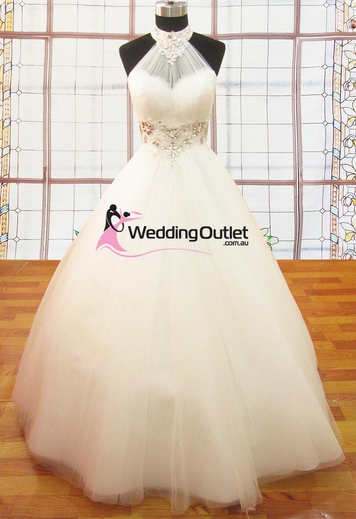 Ariana halter neck princess dress for Wedding dresses online australia