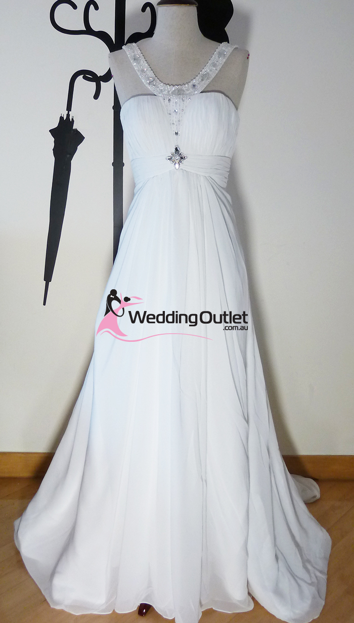 Ashlie Simple Wedding Dress Sleeved