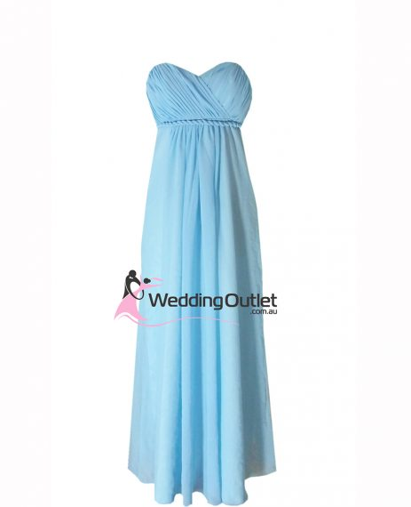 Baby Blue strapless bridesmaid dress Style #D101
