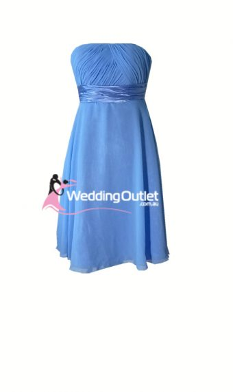 Cornflower Blue Bridesmaid Dress Short Style #L101