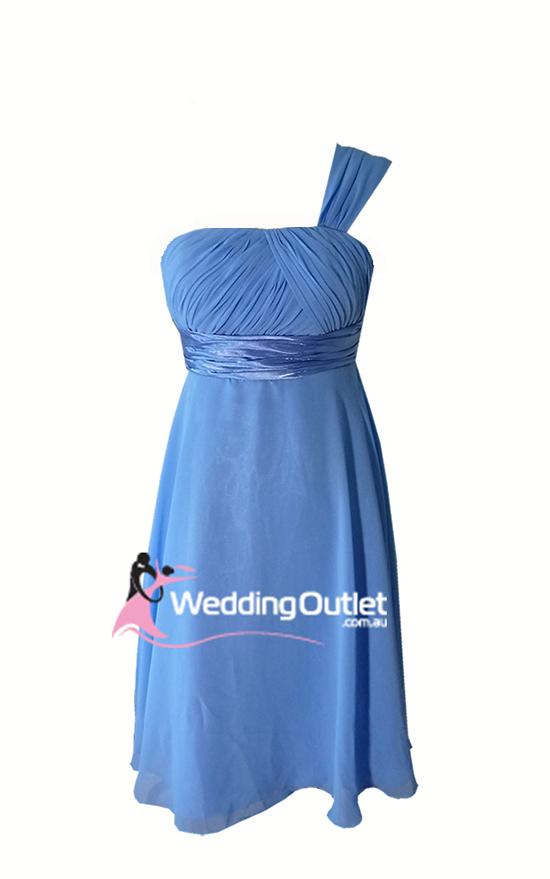 Cornflower Blue Bridesmaid Dress Short Style #L101 - WeddingOutlet ...