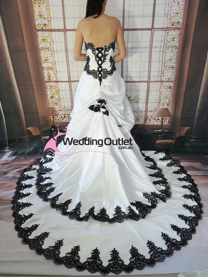 Black And White Wedding Dresses For  : Scarlett black and white wedding dress