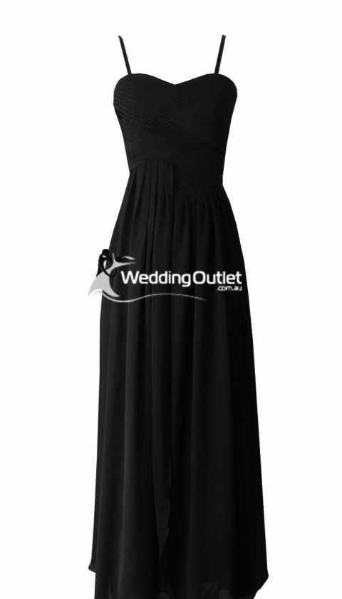 Black sleeved bridesmaid dresses style #AF101