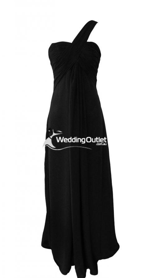 Black Bridesmaid Dresses style #F101