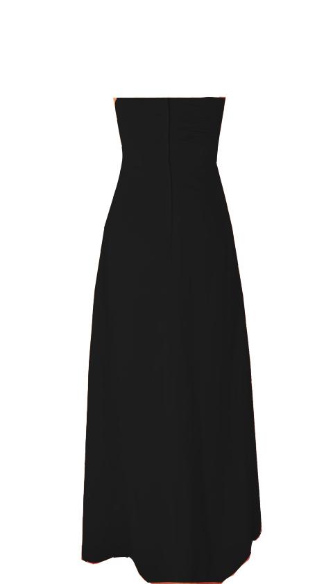 Black Strapless Bridesmaid Dresses Style #R101