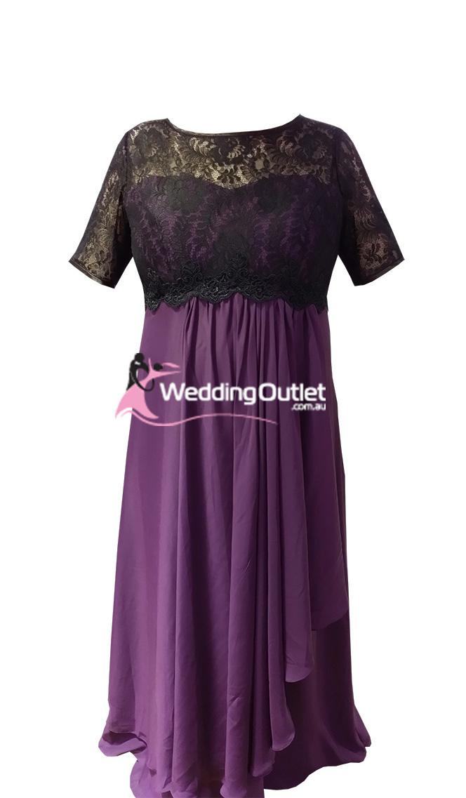 Black Lace Plus Size Evening Dresses Style #CC101