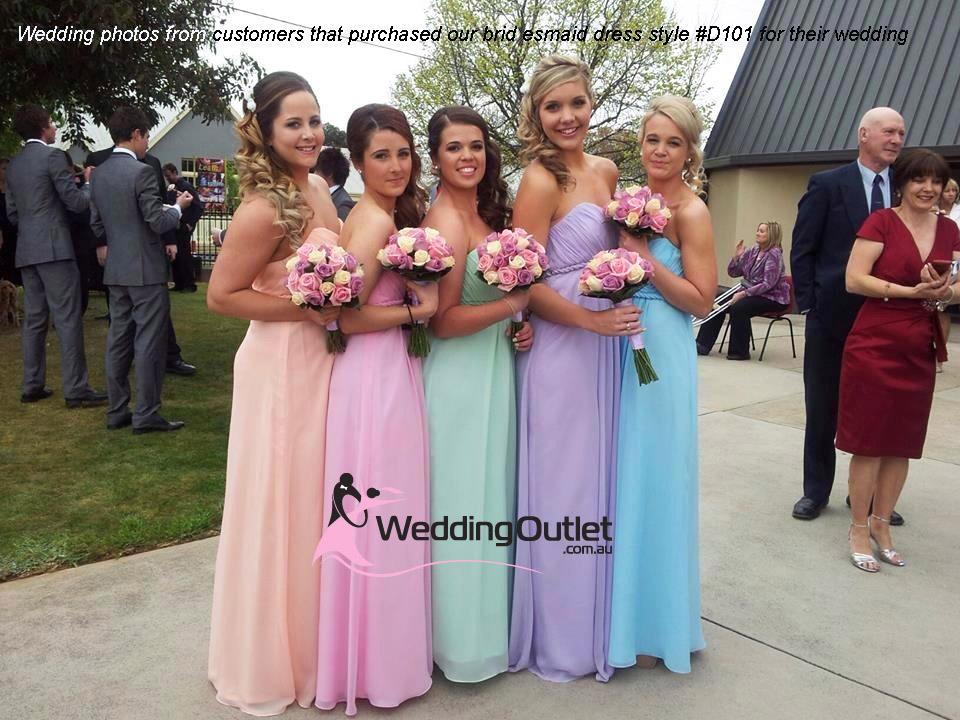 Summer Pink Sweet Heart Bridesmaid Dress Style D101